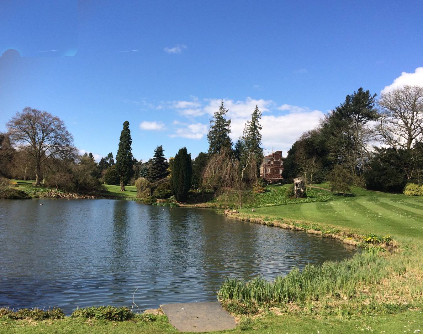 Sandringham Estate Gardens with lake.