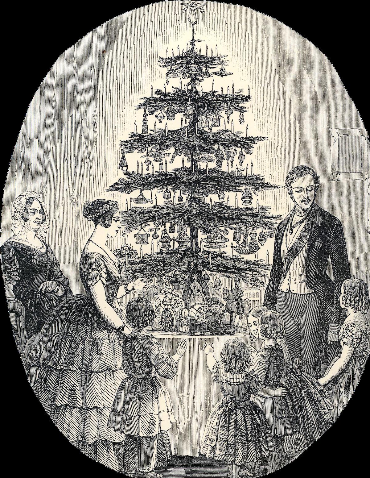 Christmas-tree-Prince Albert Queen Victoria