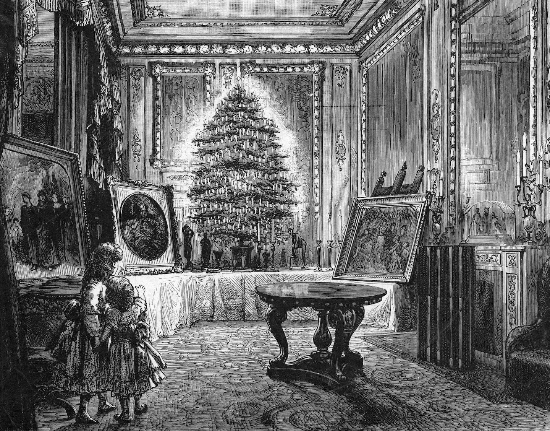 Victorian-era-christmas-tree