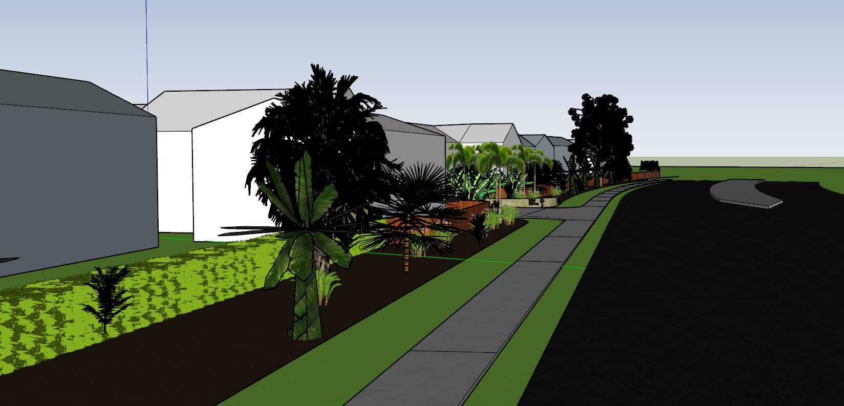 CAD Garden Design. Landscaping Services Melbourne. Using Sketchup to turn landscaping ideas into a plan