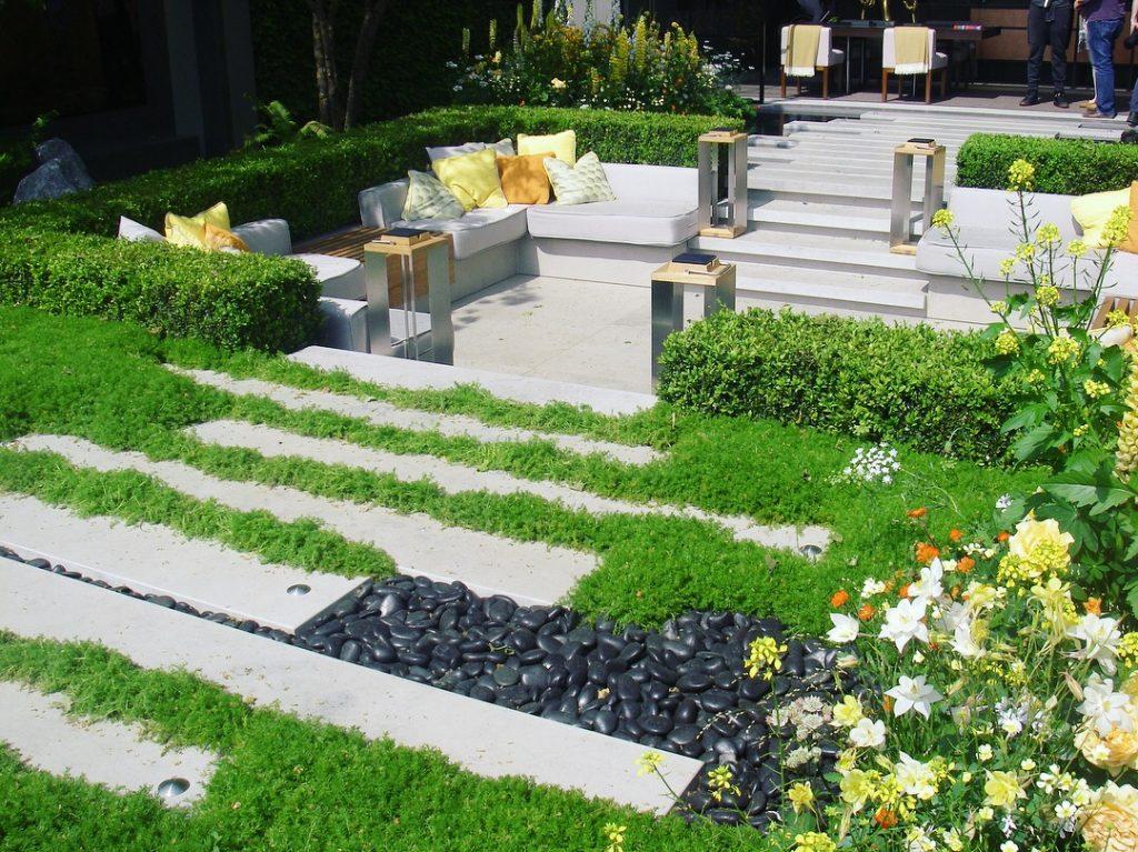 Sunken Garden Design - Chelsea Flower Show.