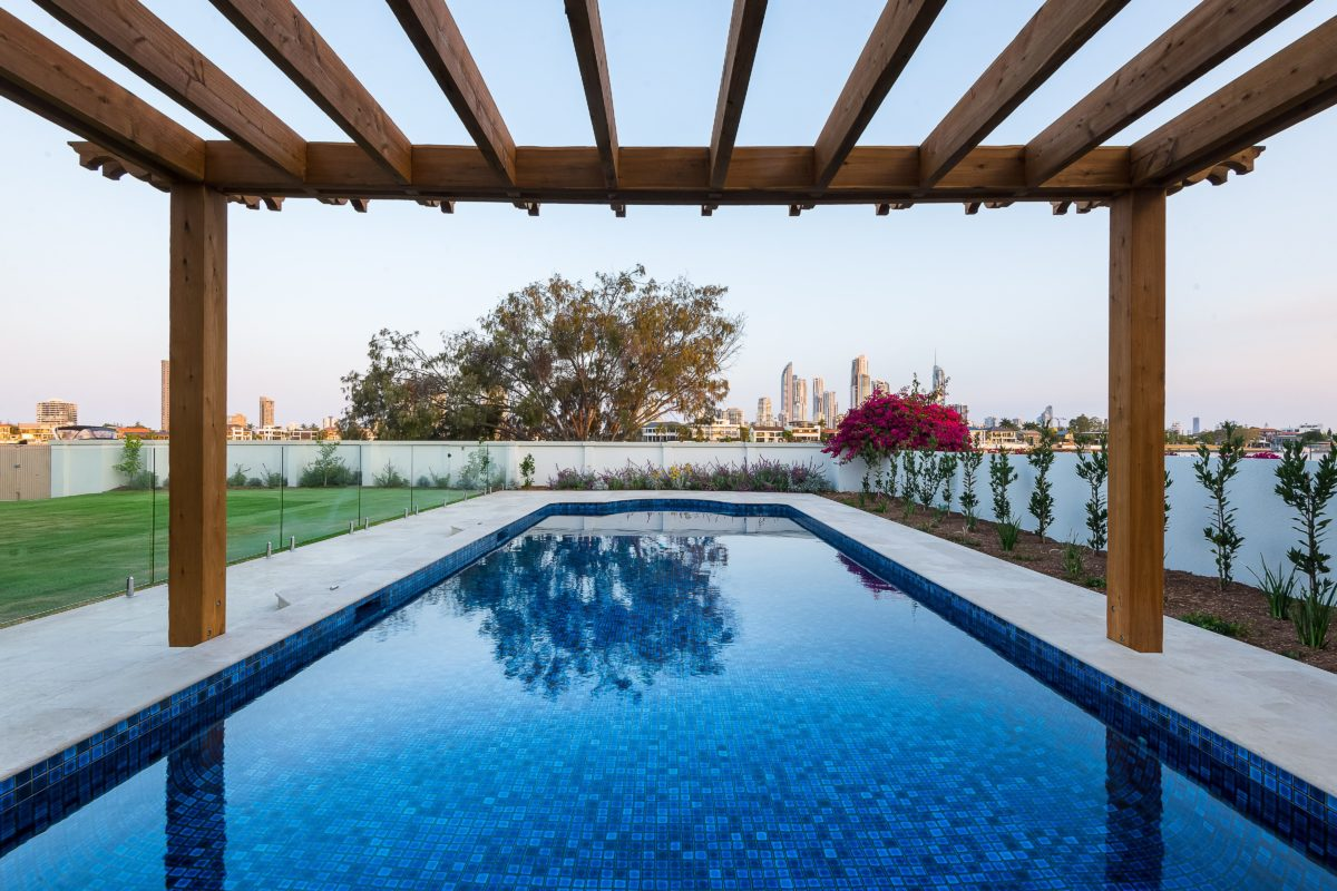 swimming pool pergola