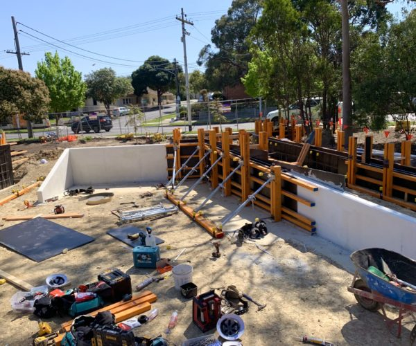 Expansion join concrete pour in Surrey Hills