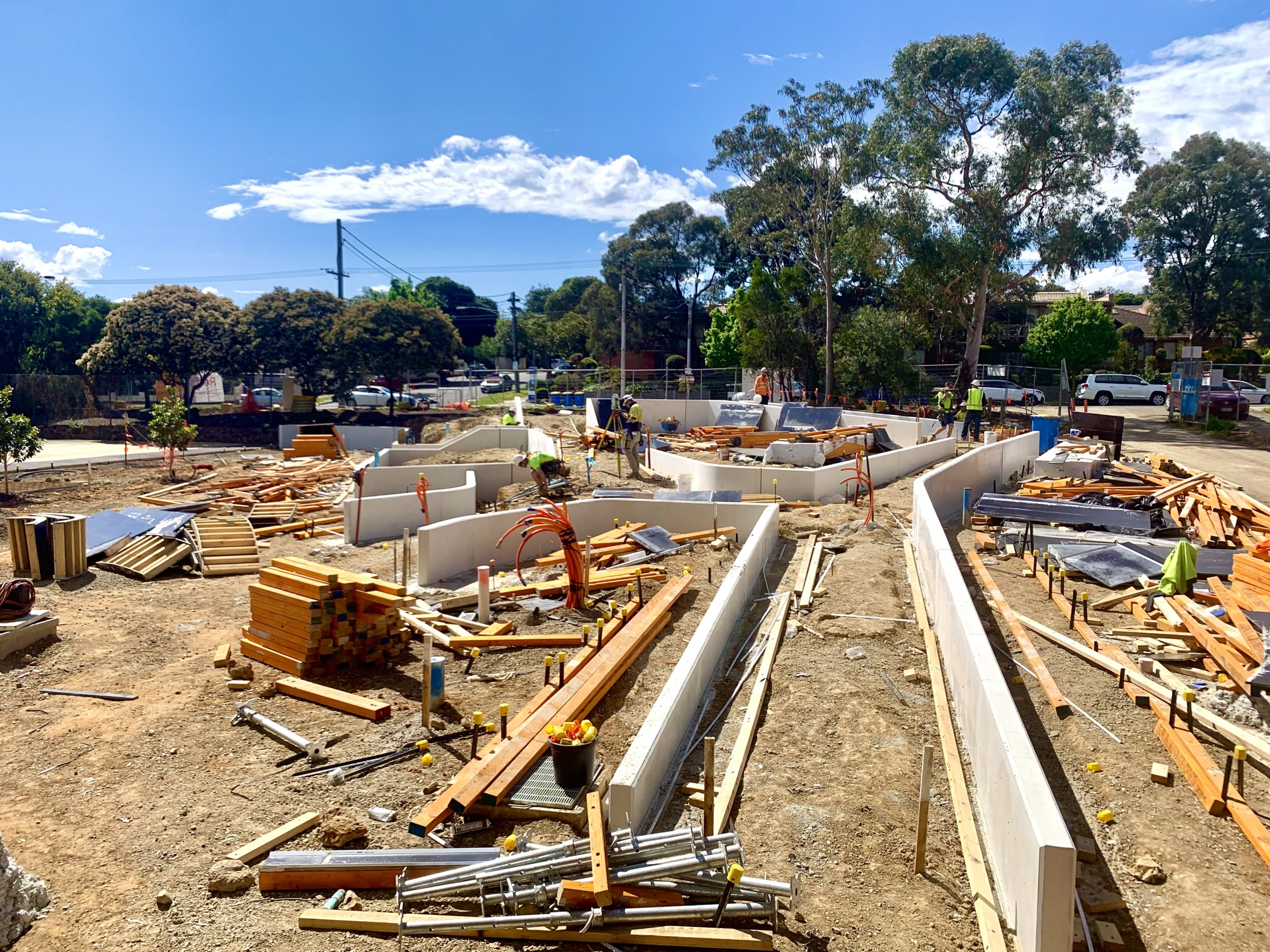 Form work Stripped at Balwyn Community Center