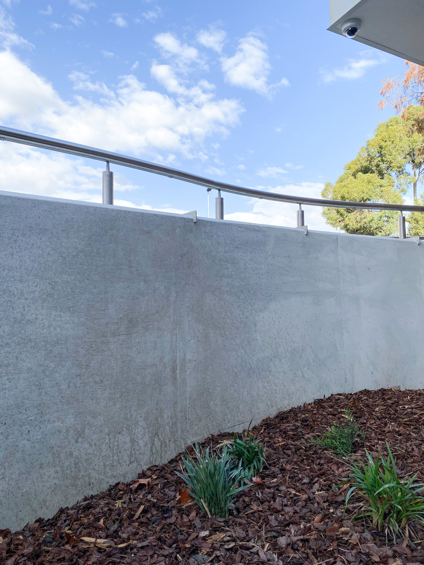 Curved In-Situ retaining wall.