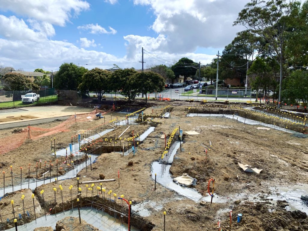 commercial concreting melbourne. Concrete retaining wall footings.