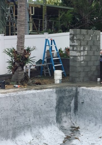 Outdoor Shower Under Construction