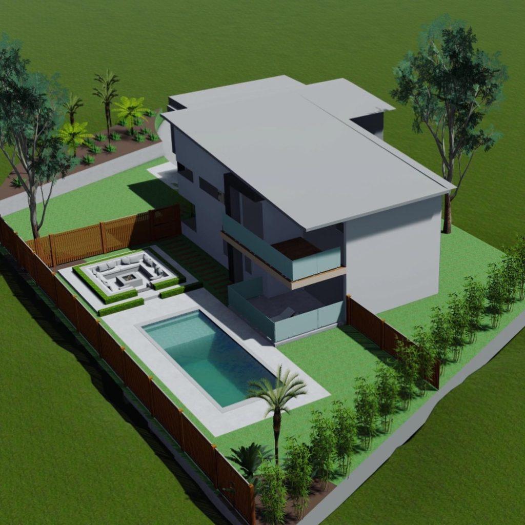 pool landscaping designs Computer Model