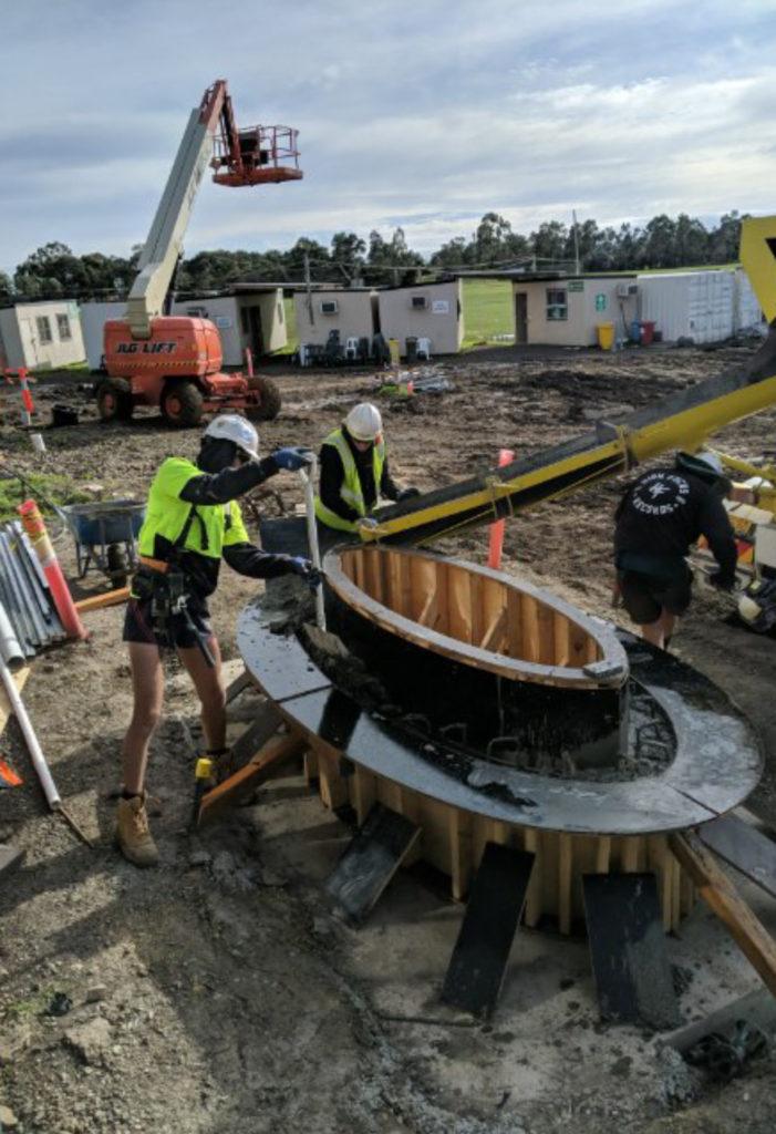 Melbourne Landscaper - Concrete pour into formwork Mill Park Leisure Centre