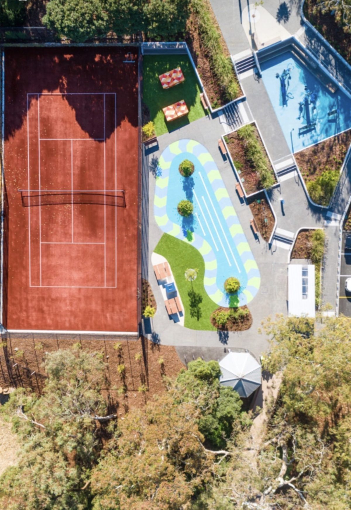Aerial Photograph - Commercial Landscaping Melbourne