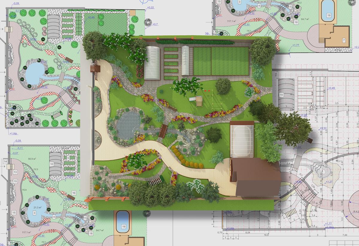new home landscape design