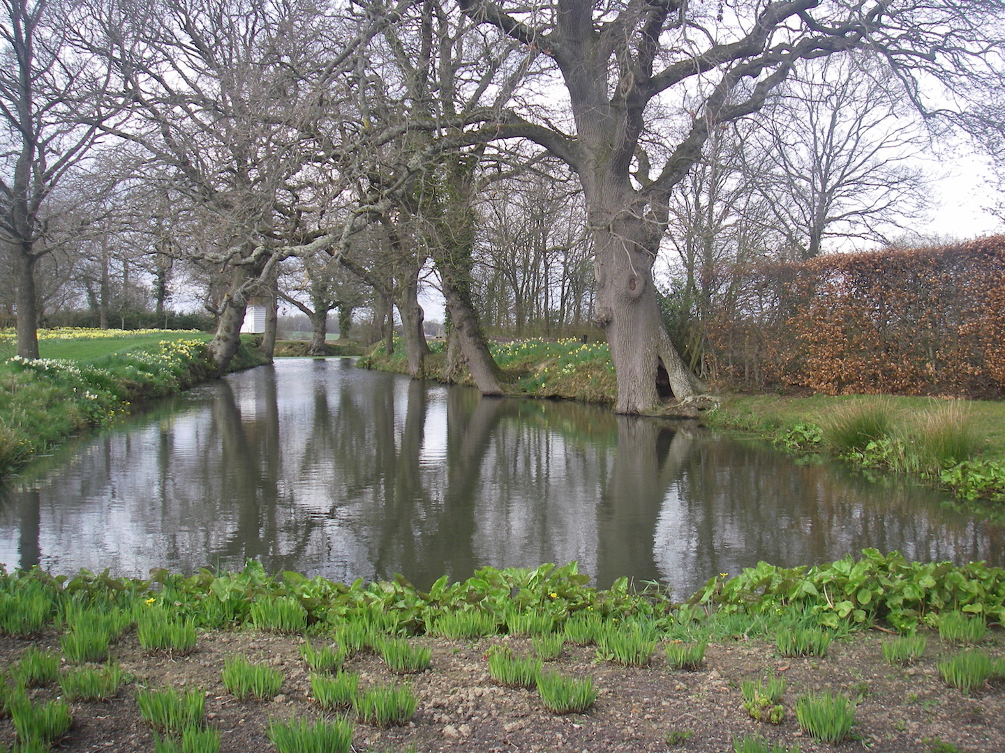 The famous Sissinghurst Moat.