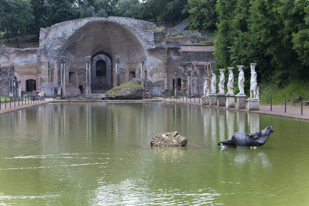 Ancient Pool Canopus. The ruins of Hadrian's Villa near Tivoli has influenced landscapers and architects for centuries.