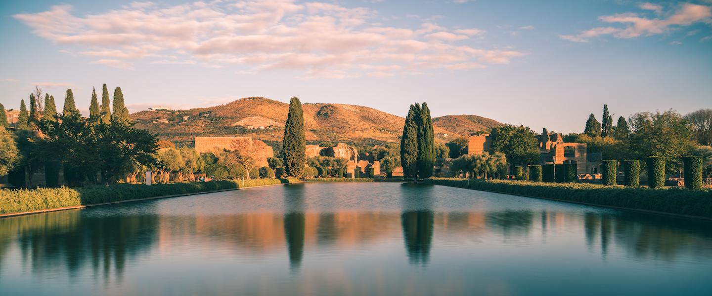 Roman Landscaping. Villa Adriana near Tivoli Italy