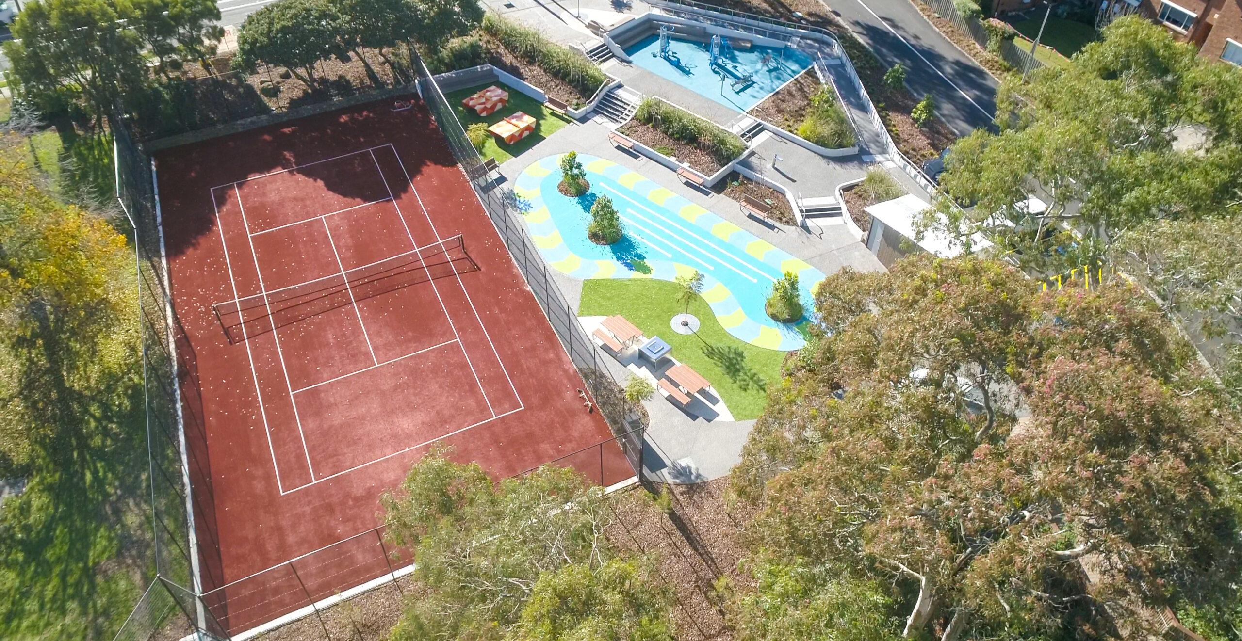 Tennis Court Landscaping