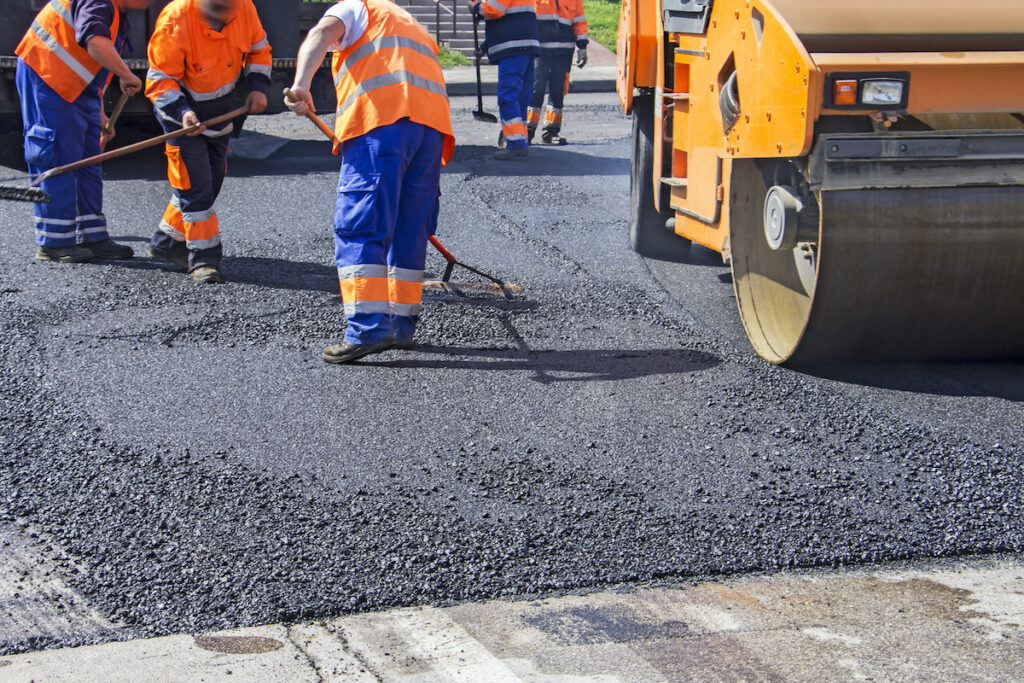 Building a Asphalt road. Will plastic be an important ingredient in the future.