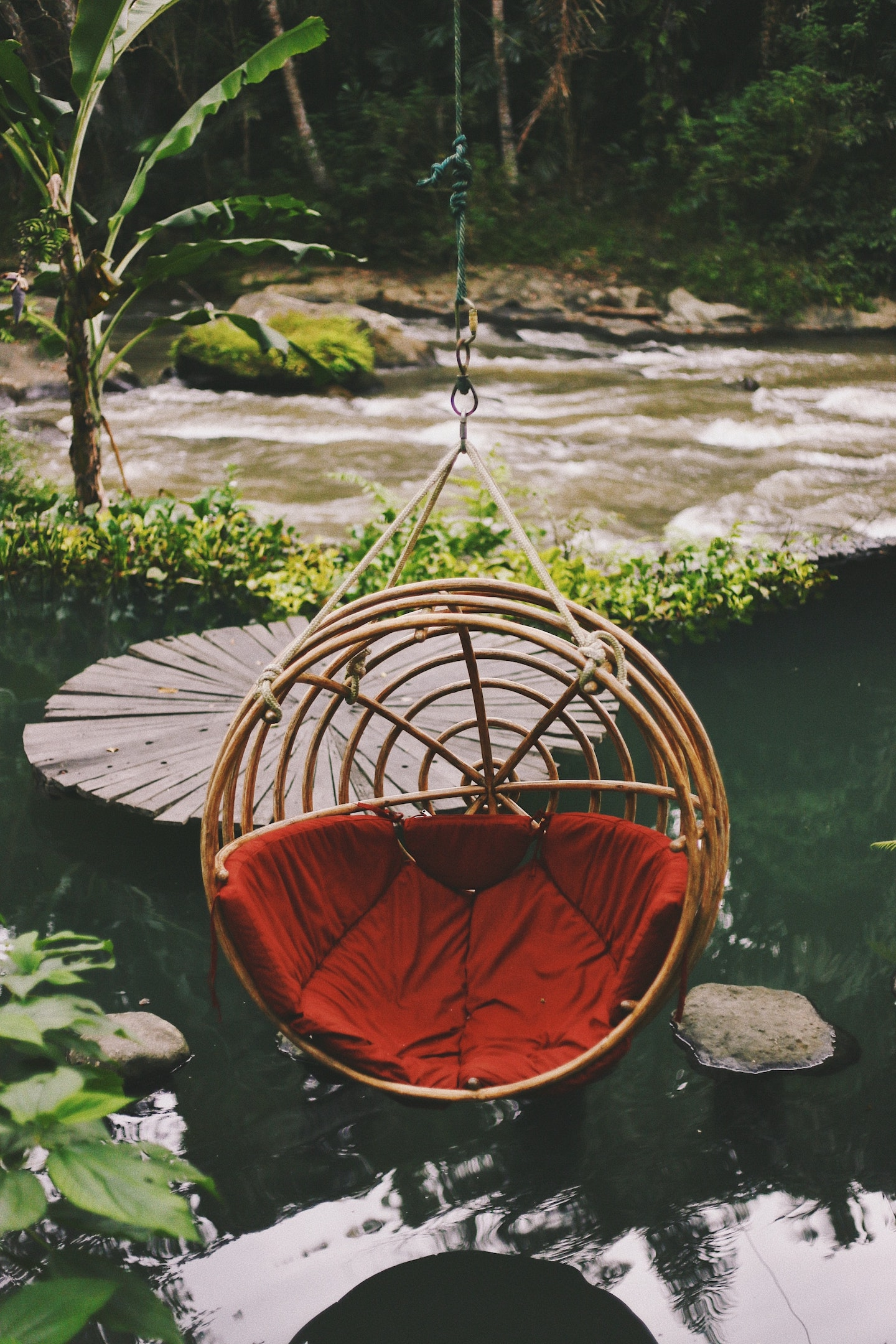 eco pool and egg chair