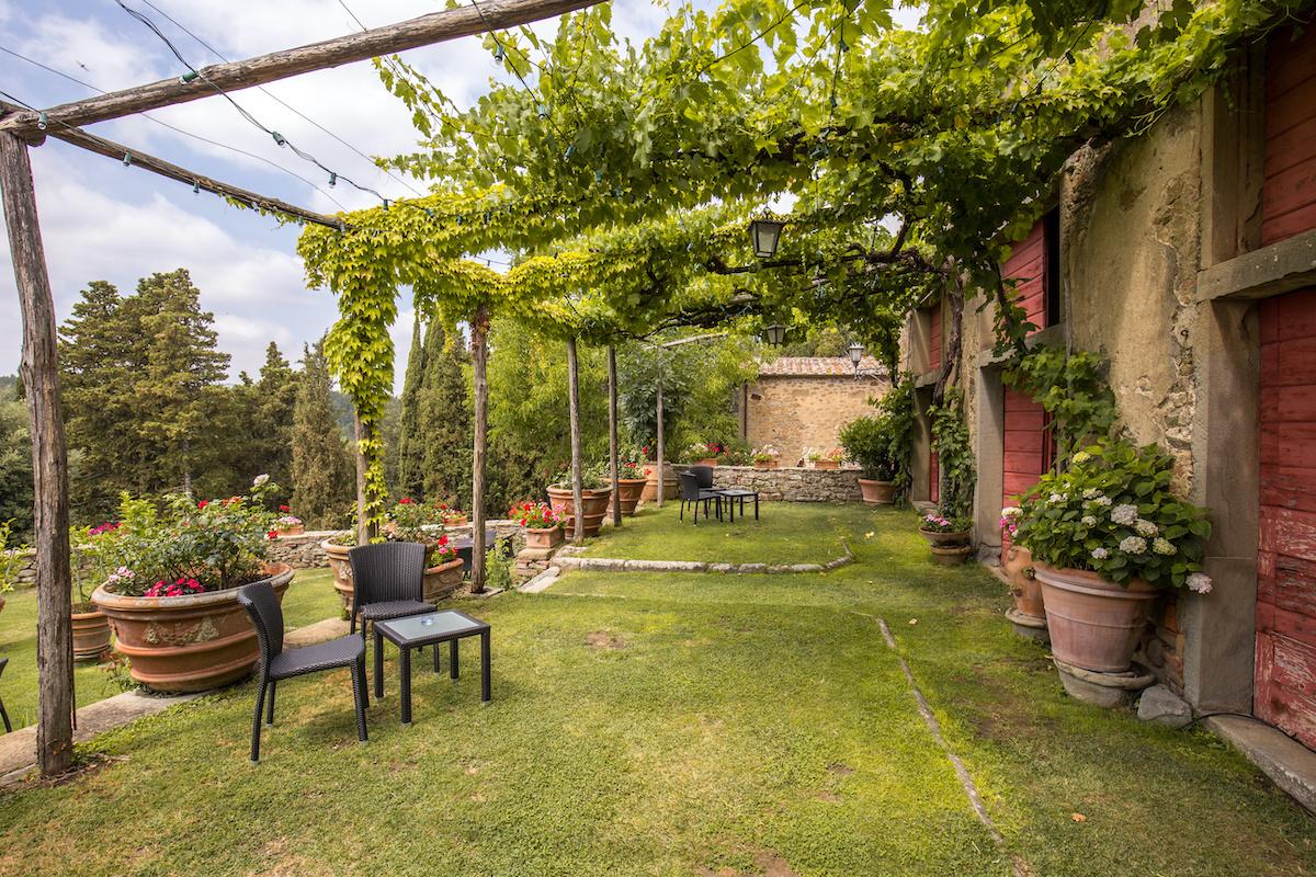 Tuscan garden landscape design style.