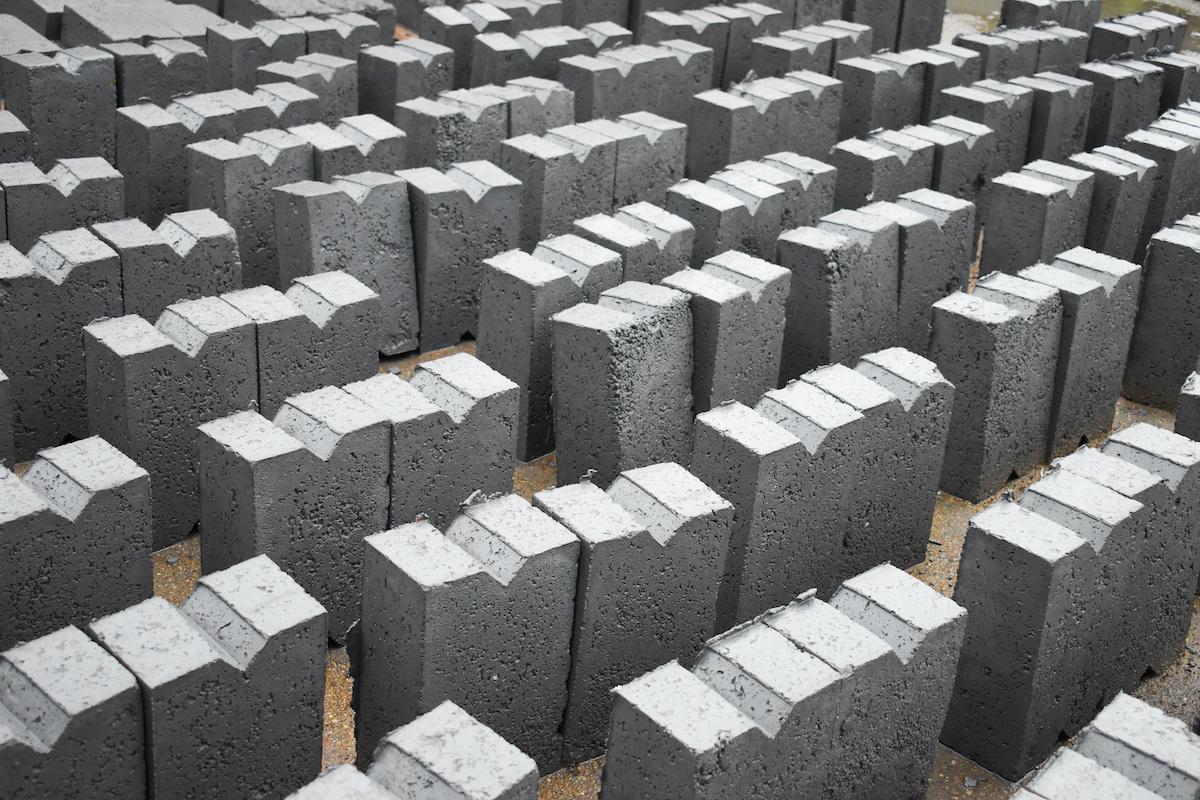 Eco-Friendly Concrete Bricks made wi