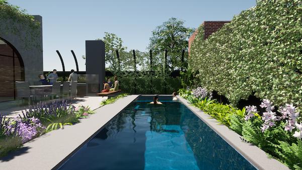 Custom Swimming Pool Design of a Lap Pool