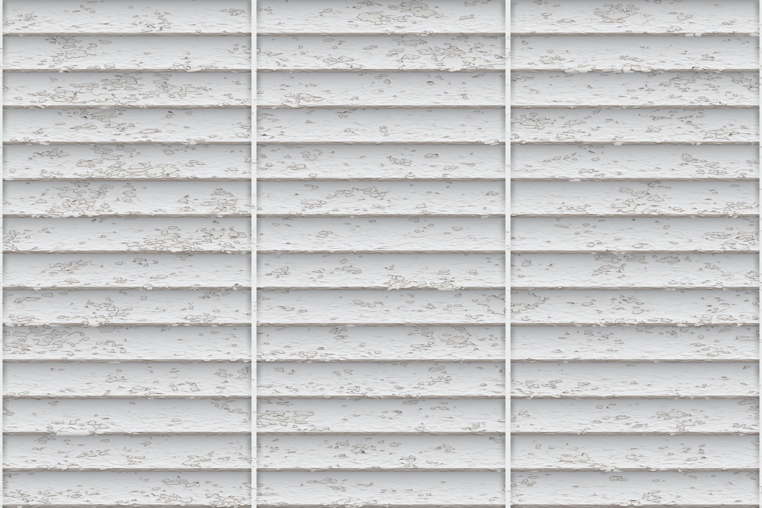 White timber batten screen