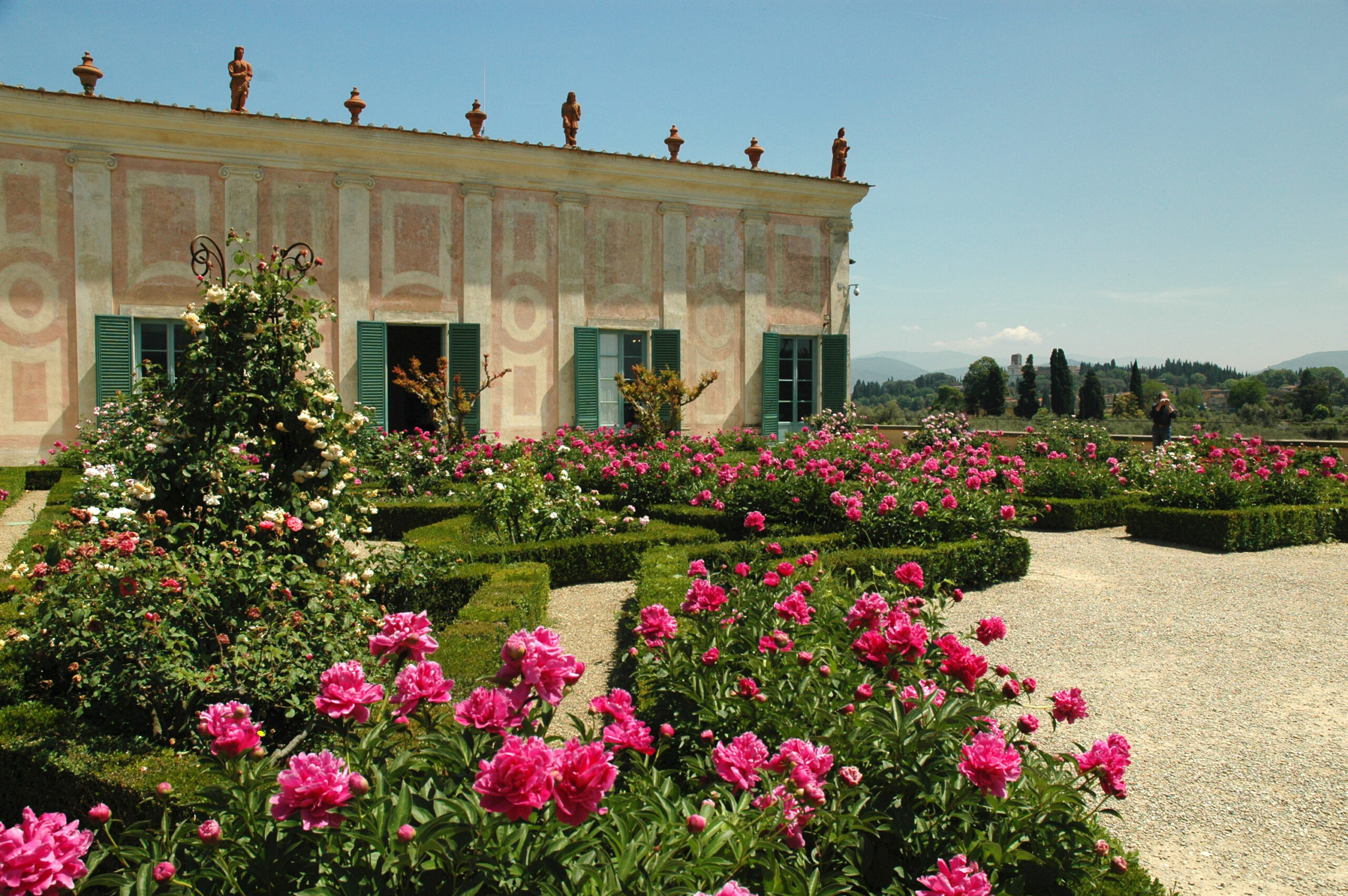 The Boboli Gardens in Florence are an example of a more formal Italian design style.