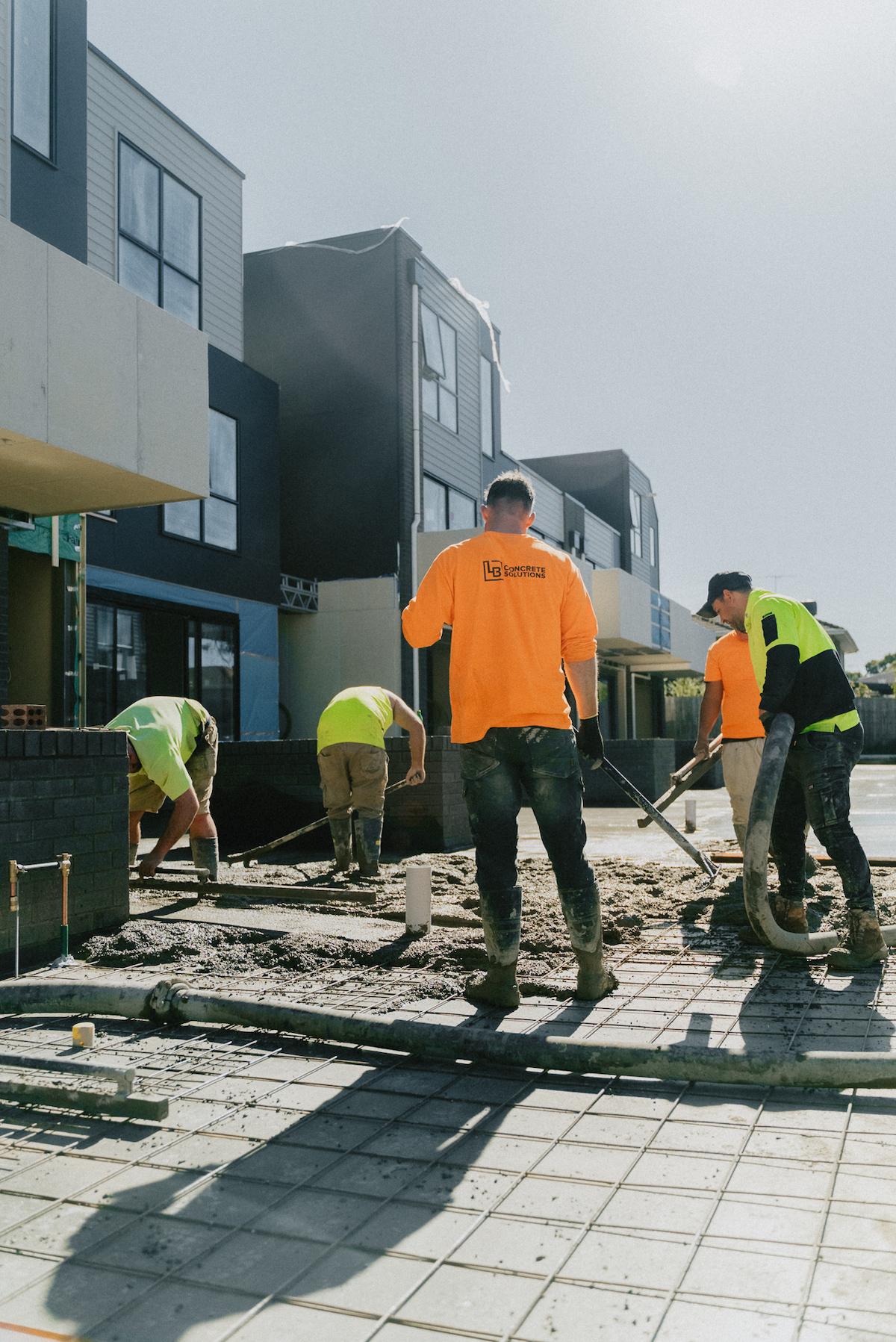 Commercial concrete pavement onstruction