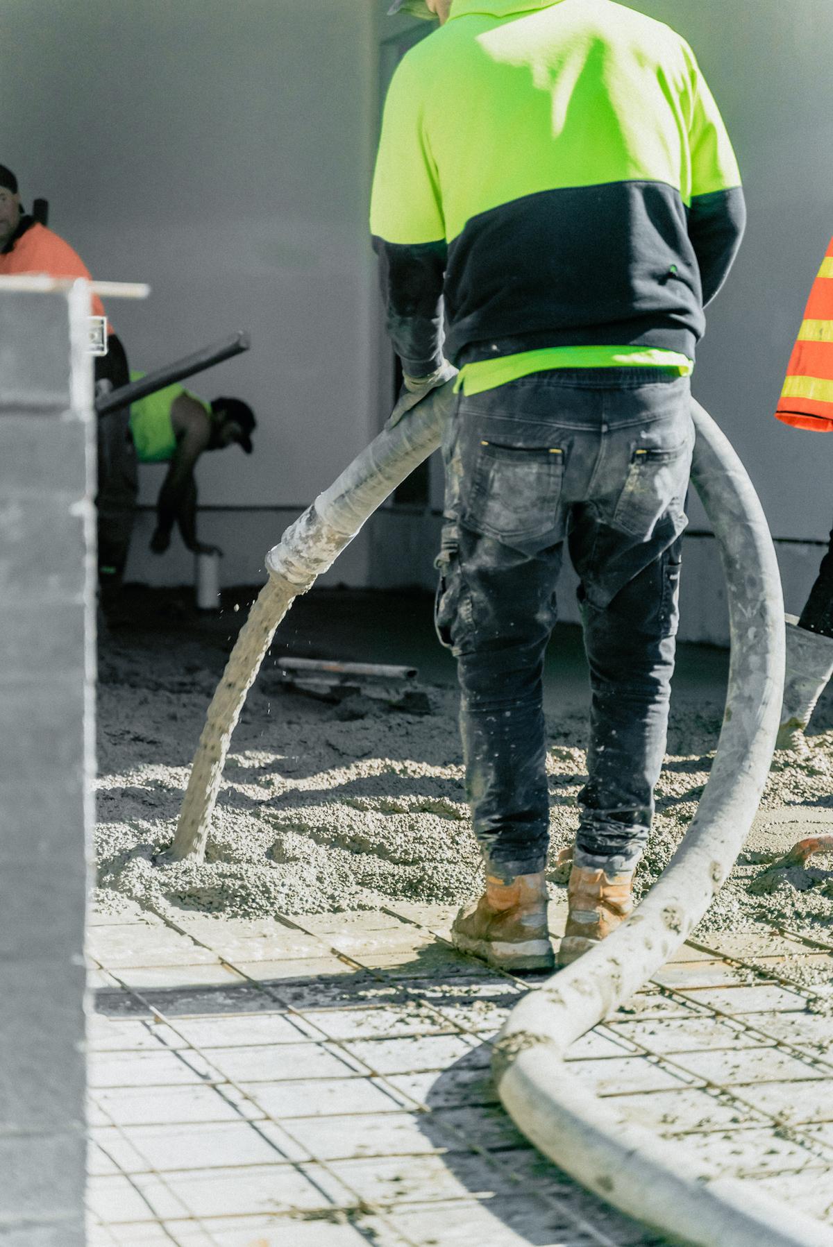concrete pumping for concrete pavement construction